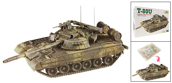 DIY Toy Russian T-80U Main Tank Model 1:48