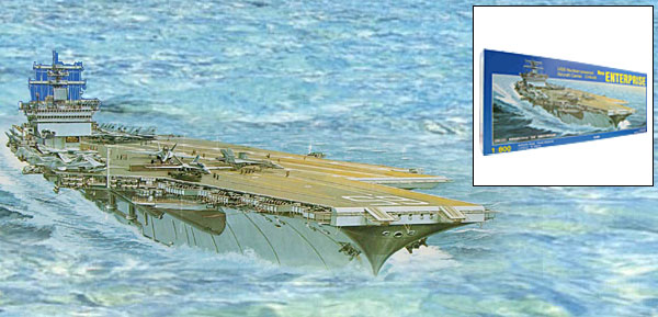 Toy US Aircraft Carrier New Enterprise Nuclear Powered Aircraft Carrier Military Model