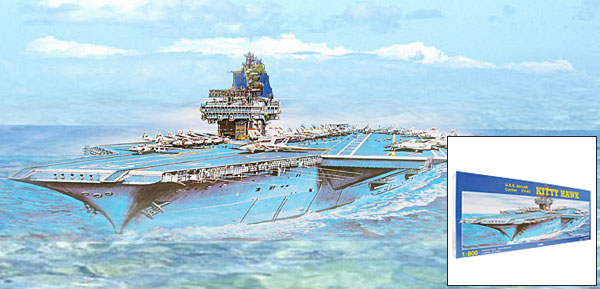 Kitty Hawk Aircraft Carrier CV-63 Military Model DIY Toy