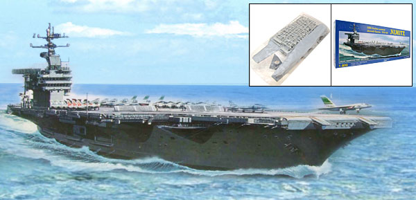 1:800 Nuclear Powered Aircraft Carrier CVN-68 Military Model DIY Toy