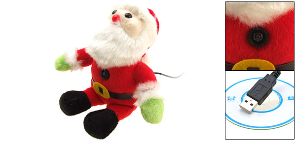 Unique Santa Claus USB PC Computer Laptop Video Webcam Web Camera