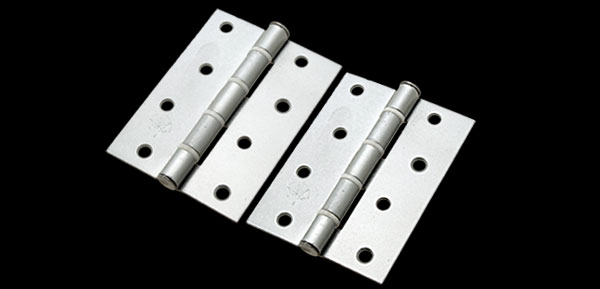 2 Pieces Stainless Steel Hinge w/ Eight Holes for Wood Door