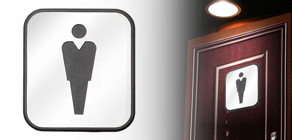 Stainless Steel Men's Washroom Restroom Bathroom Toilet Sign Board