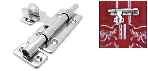 Stainless Steel Lock Door Barrel Bolt w Padlock Clasp Abmwu