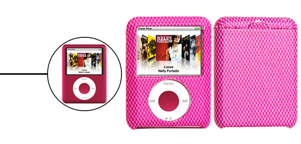 Stylish Peachblow Grille Hard Plastic Case for iPod Nano 3rd 3G Gen