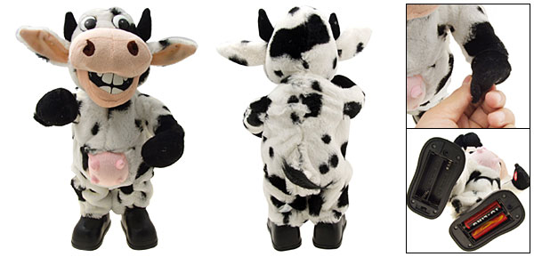 Cute Funny Dancing Singing Crazy Cow Kids Fur Real Toys