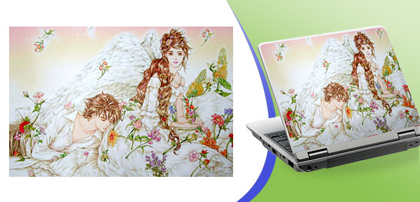 Romantic Cartoon Decal Sticker Paper Cover for Computer Laptop Notebook