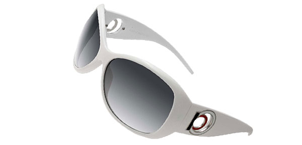 Women Plastic Sports Sunglasses White Frame