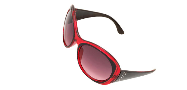 Wine Red Round Plastic Men's Women's Sport Sunglasses