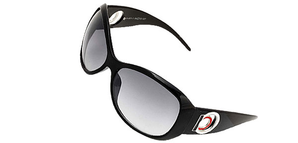 Black Plastic Unisex Men's Women's Sports Sunglasses