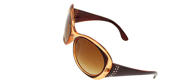 Fashion Amber Round Plastic Men's Women's Sport Sunglasses