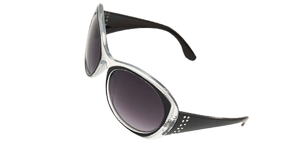 Black Round Plastic Men's Women's Sport Sunglasses