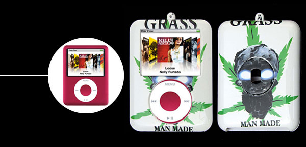 Stylish Leaves Plastic Hard Case for iPod Nano 3rd Generation 3G