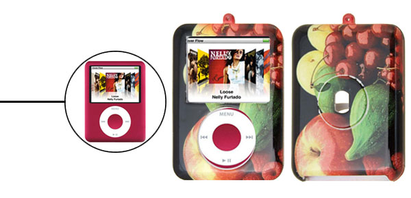 Stylish Fruit Hard Plastic Case for iPod Nano 3rd Generation 3G