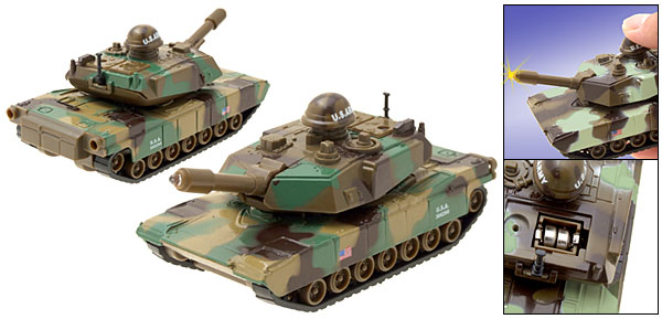 Camouflage US Army Green Forward Action Tank Kid Toys