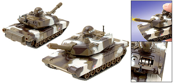 Camouflage Army White Forward Action Tank Kid Toys