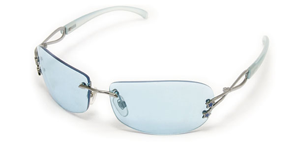 Fashion Plastic Sky Blue Lens Eyewear Sun Glasses