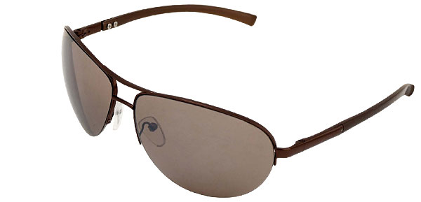Aviator Coffee Metal Frame Men Eyeglasses Sunglasses with UV400 Protection