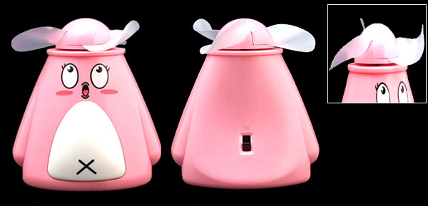 Summer Cartoon Mini Pink Animal Pocket Personal Battery Powered Fan