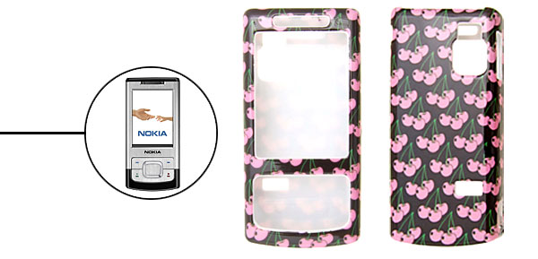 Stylish Pink Fruit Pattern Plastic Case Cover for Nokia 6500