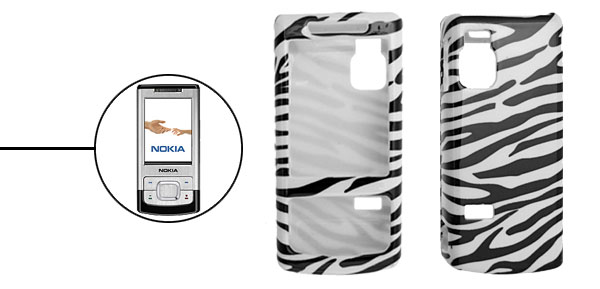 Zebra Pattern Plastic Protector Hard Case Cover for Nokia 6500