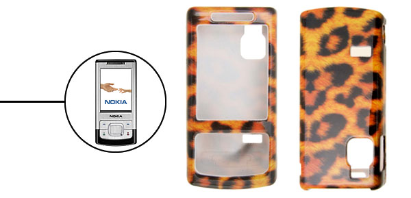 Stylish Leopard Leather Pattern Plastic Case Cover for Nokia 6500