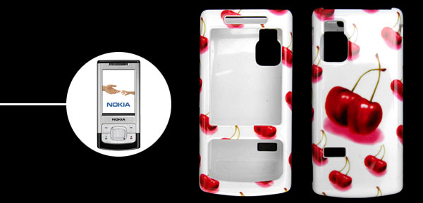 Stylish Cherry Pattern Plastic Case Cover for Nokia 6500