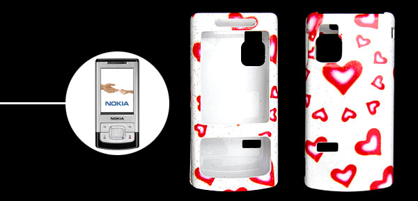 Stylish Heart Pattern Plastic Case Cover for Nokia 6500