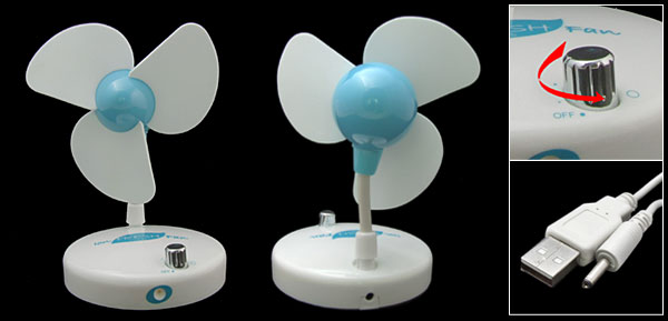USB PC Fan with Negative ion Air Purifier Ionizer