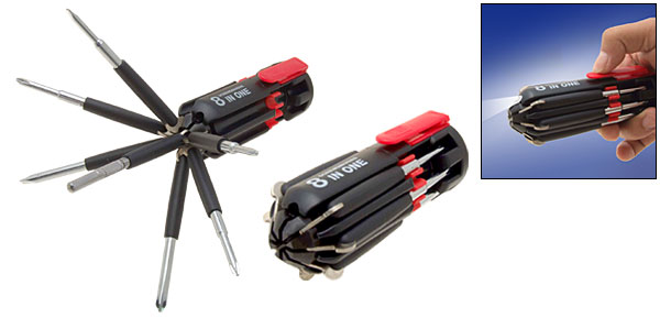 8 in 1 Multifunction Screwdriver Set Torch