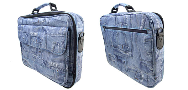 Blue Jean Canvas Case Bag for 17