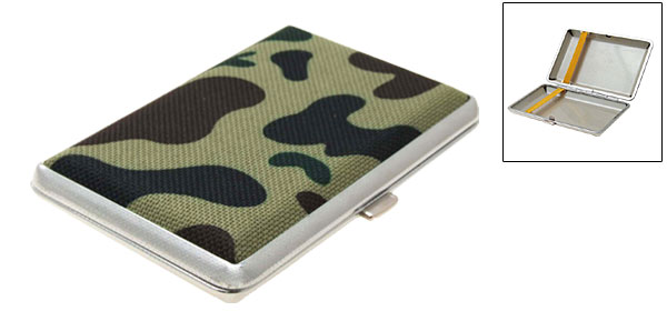 Camouflage Army  Box Case Holder for Cigarettes