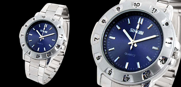 Fashion Stainless Steel Quartz Man Watch