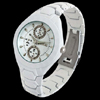 White Fashion Water Proof Stainless Steel Man Watch