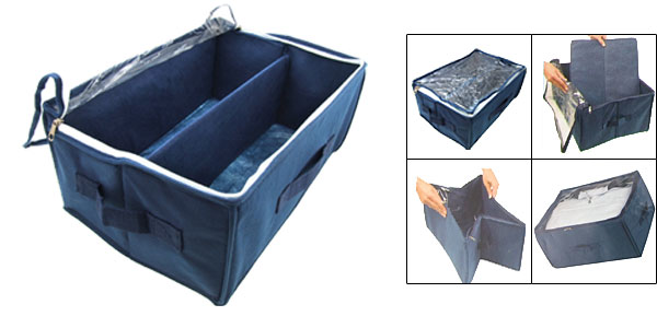 Clothes Toys Folding Storage Bag Bin Box Organizer Blue