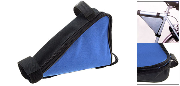 Blue Bike Mountain Bicycle Triangle Pump Frame Saddle Bag