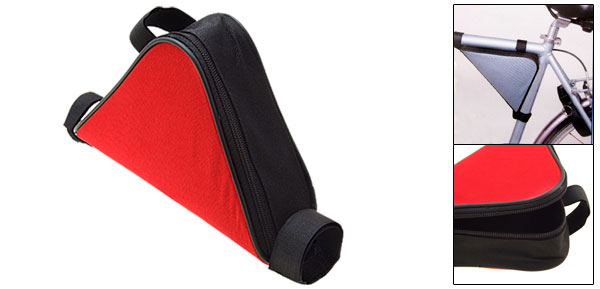 Bicycle Bike Triangle Frame Bag Mountain Cycling Red