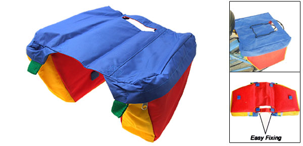 Rainbow Color Children Kid's  Bicycle Bike Double Saddle Bag
