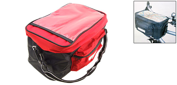 Black and Red Bike Trunk Handlebar Bag Bicycle Rack Pannier Pack