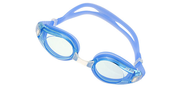 Blue Silicone Pool Swim Swimming Goggles Anti Fog