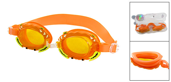 Crab Kids Children Swimming Pool Swim Goggles Orange