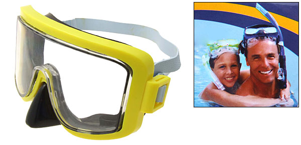 Yellow Children Kids Diving Swimming Swim Mask Goggles
