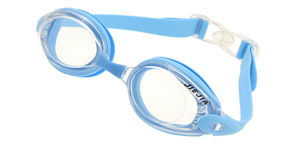 Stylish Swim Swimming Pool Silicone Goggles Light Blue