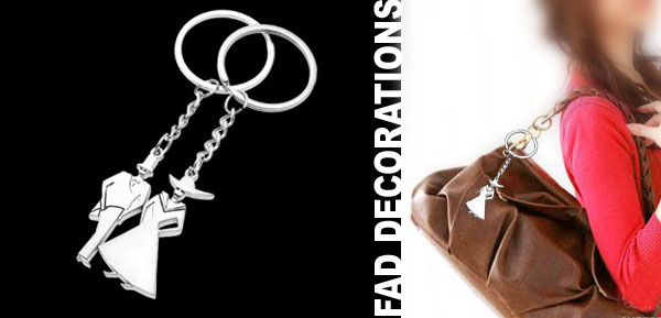 Unique Dancing Lover Couple Keychain Ring Metal Key Chain