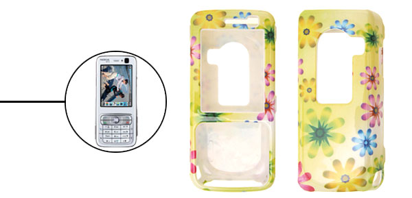 Stylish Multicolor Plastic Hard Case Cover for Nokia N73