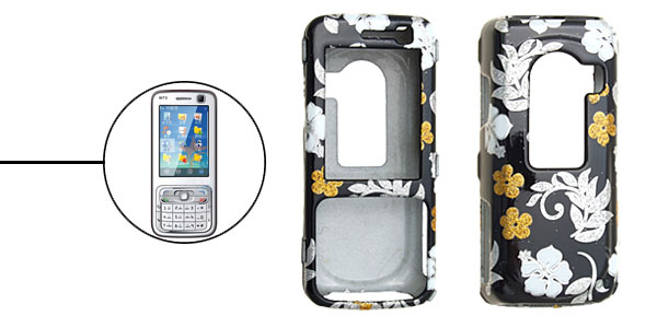Stylish Flower Plastic Hard Case Cover for Nokia N73