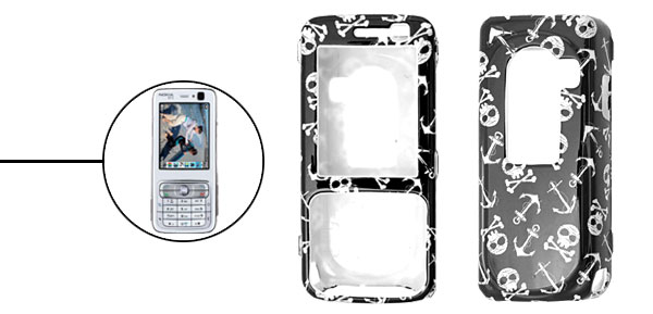 Cool Skull Design Plastic Hard Case Cover for Nokia N73