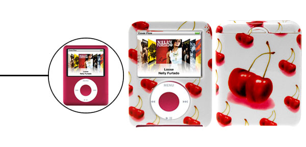 Stylish Cherry Plastic Hard Case for iPod Nano 3rd Generation 3G
