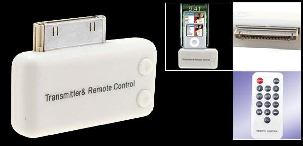 Remote Control Wireless Transmitter for iPod iPhone (except iPod Shuffle)