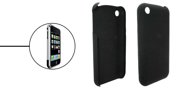 Black Plastic Anti-Slip Case Cover for iPhone 1st Generation